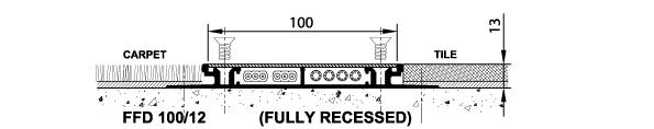 floor duct schema fully recessed