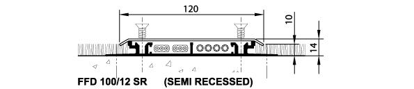 floor duct schema semi recessed