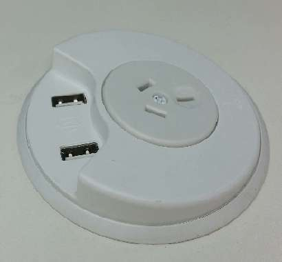 in-desk module USB charger white